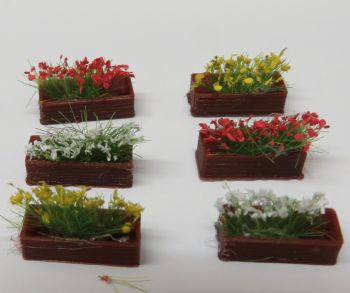 N Scale Flower Troughs x 6